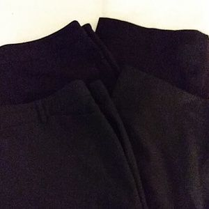 Two pair the black dress pants